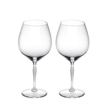 Lalique 100 POINTS Burgundy Glass Set 2pcs