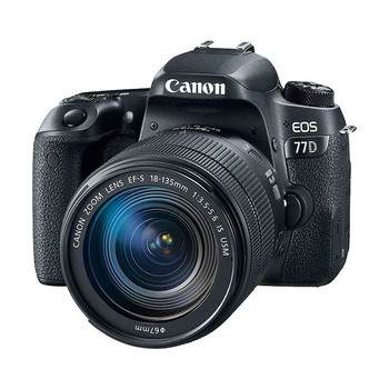 Canon EOS 77D DSLR Camera with EF-S 18-135mm