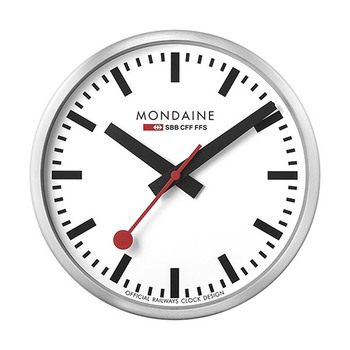 Mondaine stop2go Swiss Railways Wall Clock